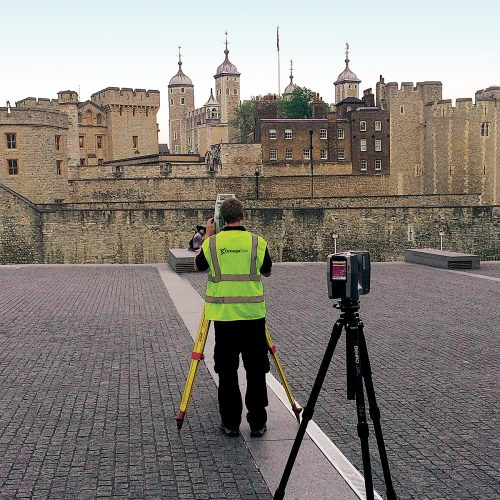 Laser Scanning Grid Tower of London