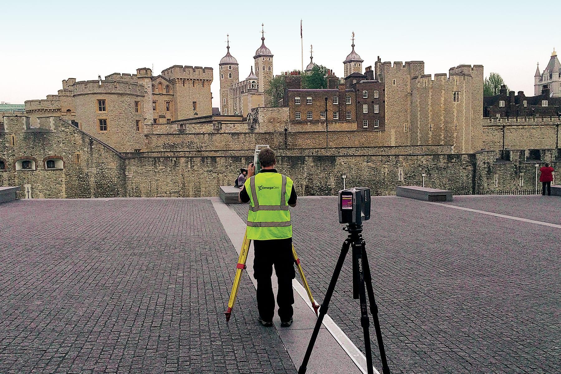 Laser Scanning Grid Tower of London
