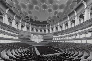 3d render Building Information Model Royal Albert Hall