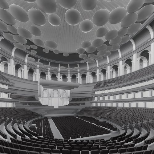 3d render Building Information Model Royal Albert Hall