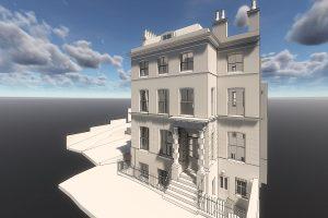 3d render Building Information Modelling