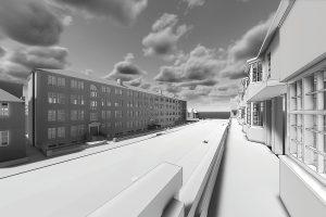 3d render Building Information Model