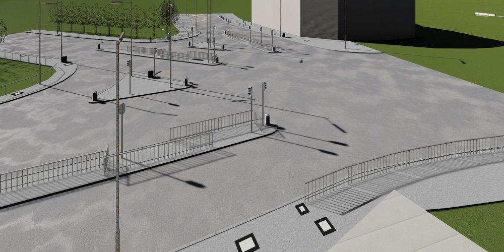 3d road render BIM