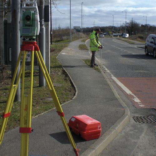 topographical road survey