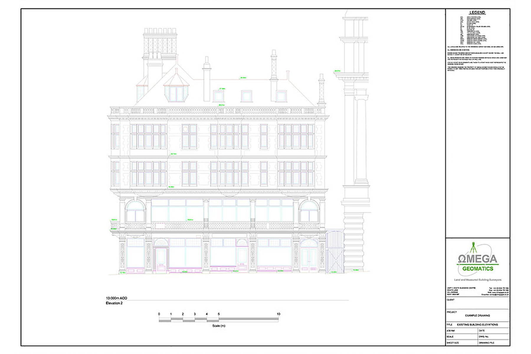 measured building survey drawing