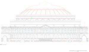 Royal Albert Hall dome CAD drawing