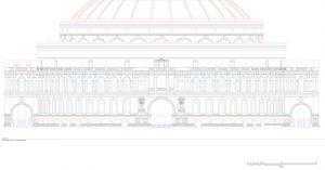 Royal Albert Hall dome 3D drawing