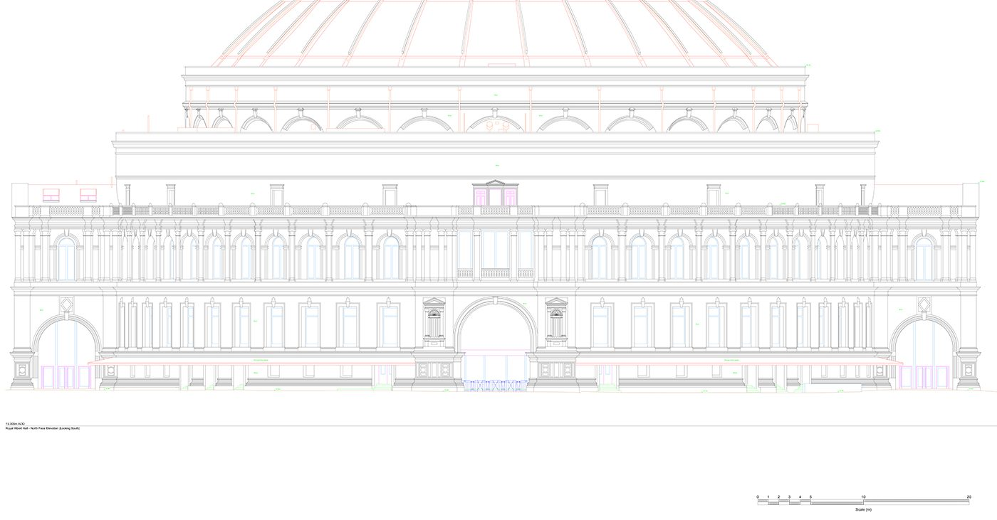 Royal Albert Hall dome 3D drawing