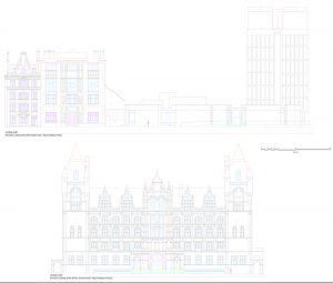 London 3d line drawing