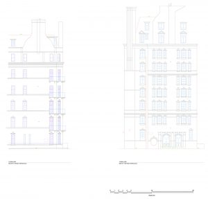 Royal Albert Hall design drawing elevation