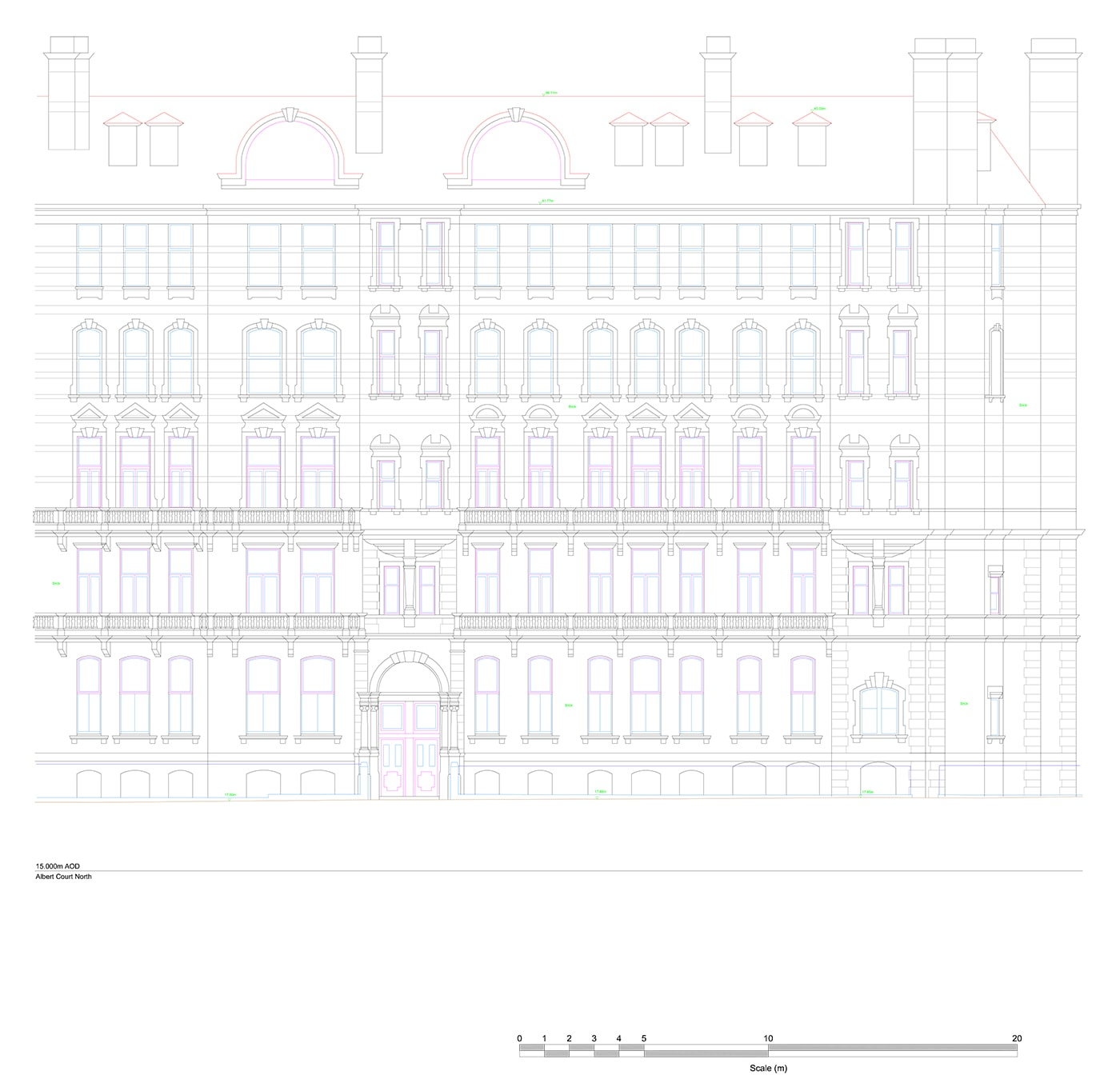 Royal Albert Hall design drawing